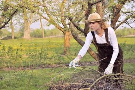 Работы в весеннем саду