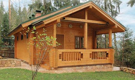 Опыт постройки одноэтажного дачного дома из бруса